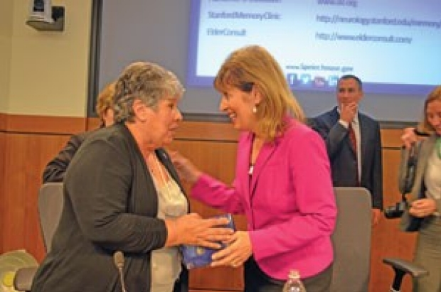U.S. Rep. Jackie Speier speaking to Alzheimer
