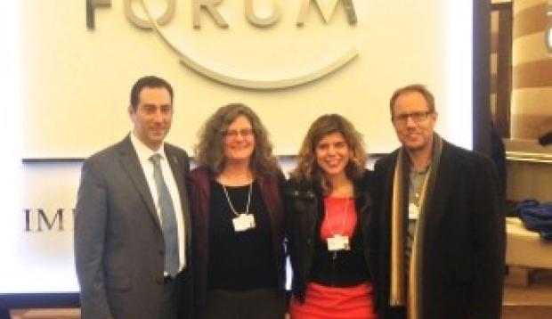 Etkin, Buckwalter, Brunet and Wyss-Coray at Davos Economic Forum