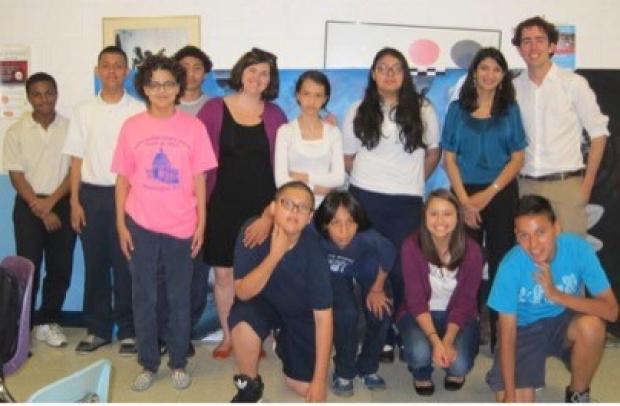 Dr. Ruchi Gupta with children in the Chicago Public Schools