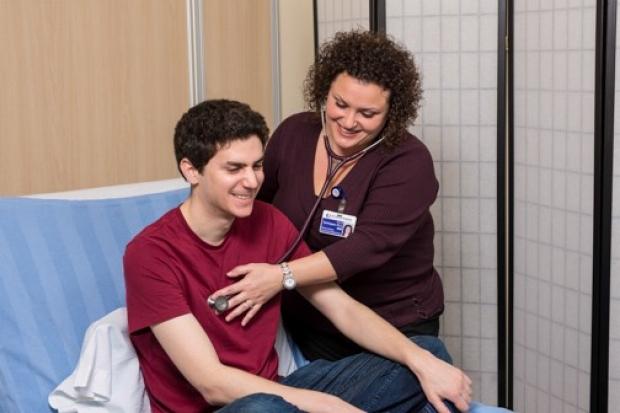 Tina Dominguez with patient
