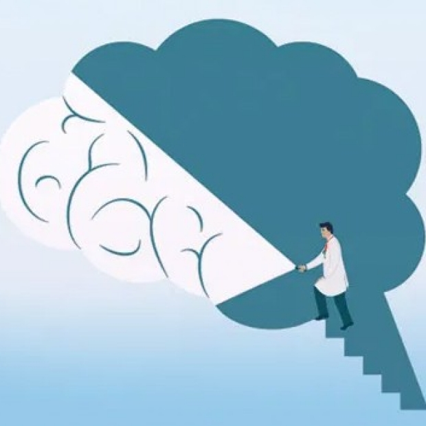 blue brain stairs