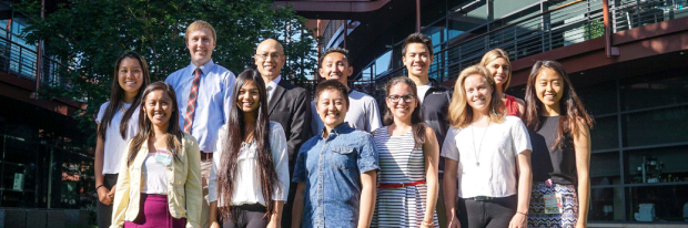 group photo of Anson Lee Lab Team