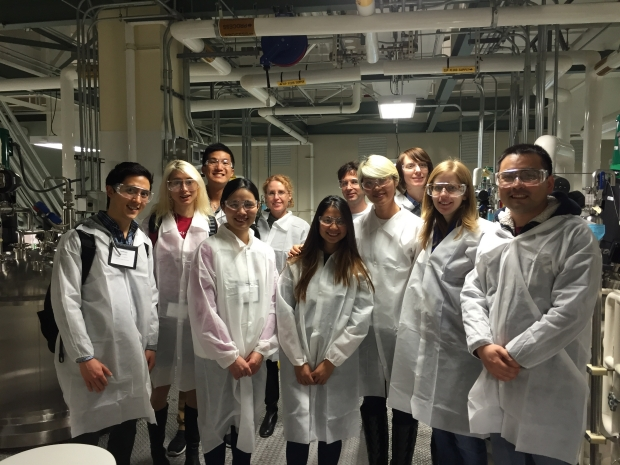 Bioscience students at Genentech