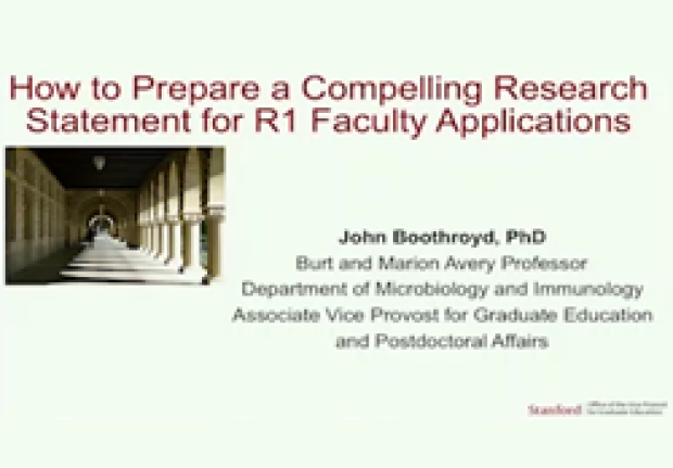 How to Prepare a Compelling Research Statement for R1 Faculty Applications