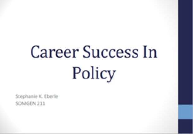 Career Success in Policy slide