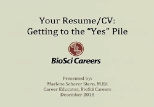 The Academic Job Search: Writing CVs and Cover Letters