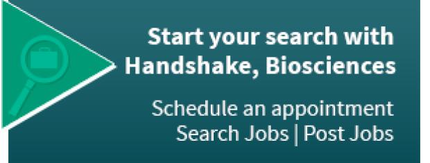 Handshake, Biosciences button