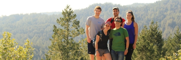 BMI students hiking