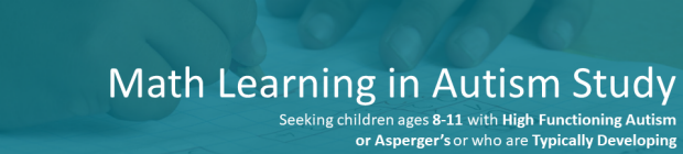 math learning in autism study banner