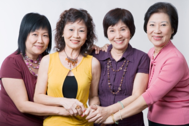 Asian Women Hands together