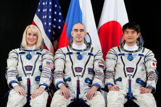 Kate Rubins, Anatoly Ivanishin & Takuya Onishi