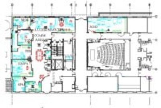Floorplan of Stanford Nanocharacterization Laboratory