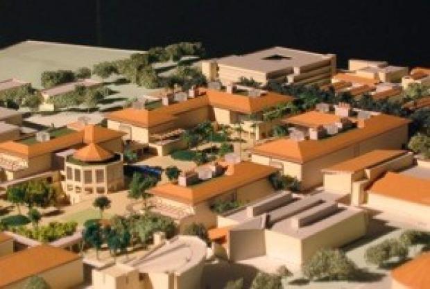 Photo of the Stanford Science Quadrangle