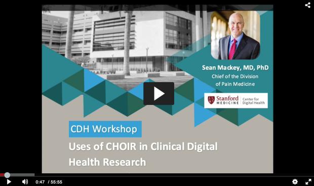 CDH Workshop CHOIR digital health