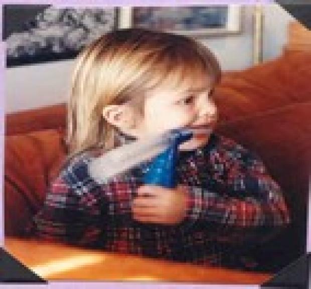 Little girl taking medication