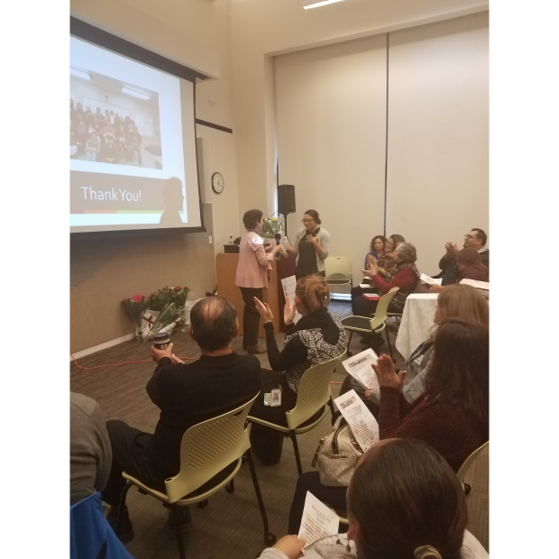 Kerri presenting at Santa Clara County meeting