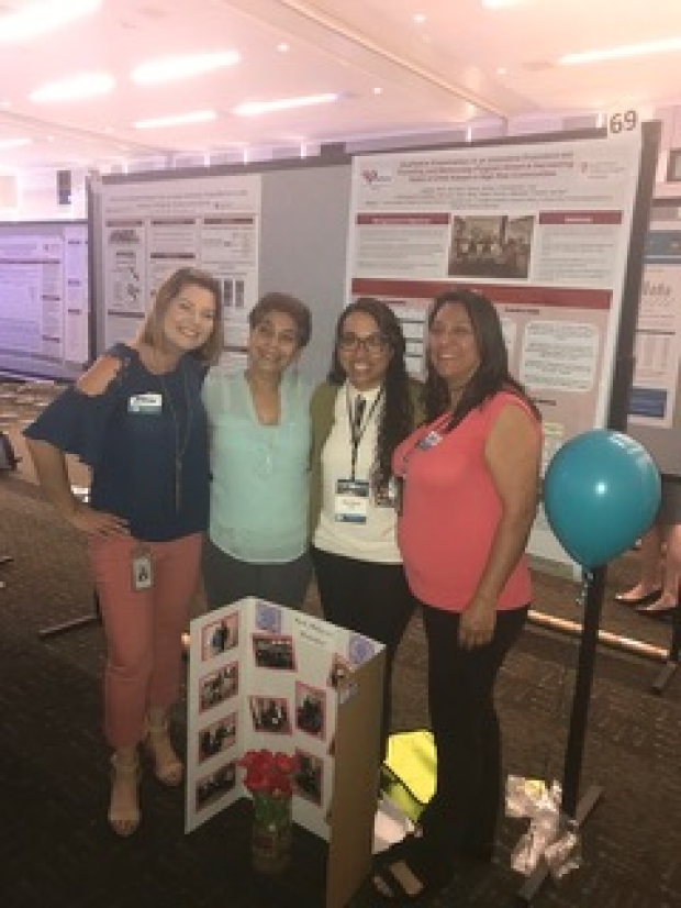 Kerri and her community partners at Stanford