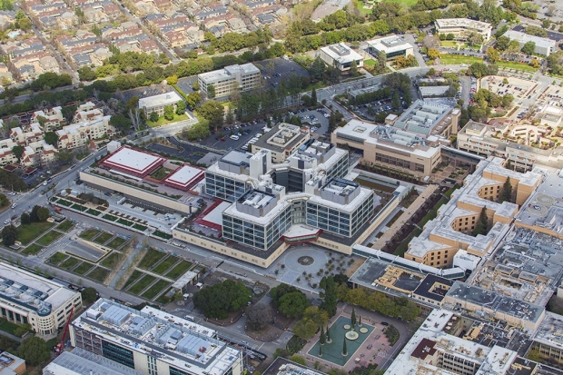 Aerial view of Stanford Hospital