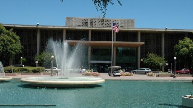 The original Stanford Hospital building