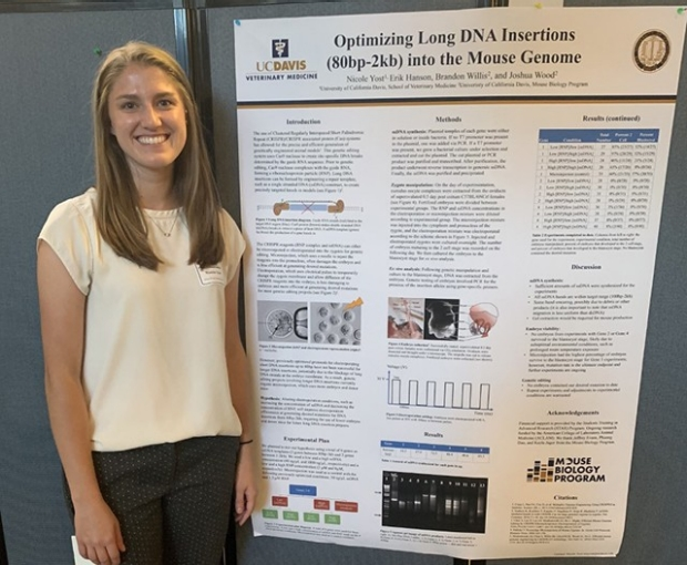 Photo of Nicole Yost, MS standing next to her poster