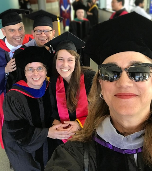 Sherril and faculty with graduate students