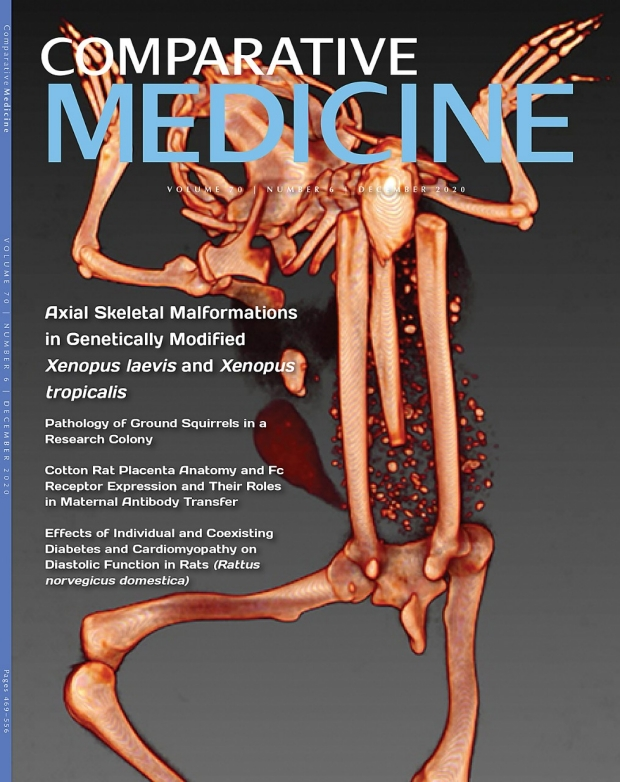 Photo of Comparative Medicine journal cover 2021 December