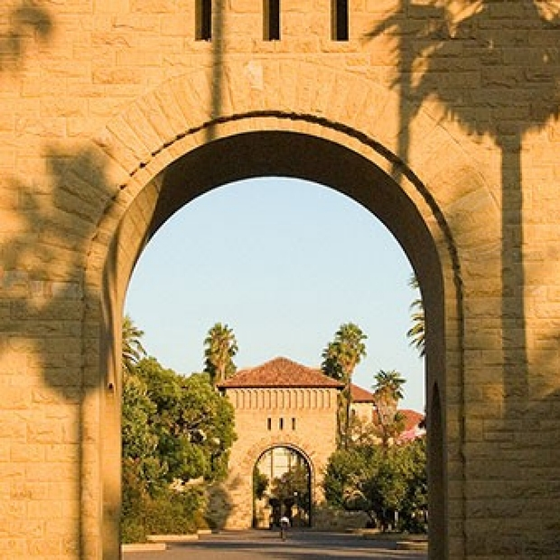 arch to the main quad
