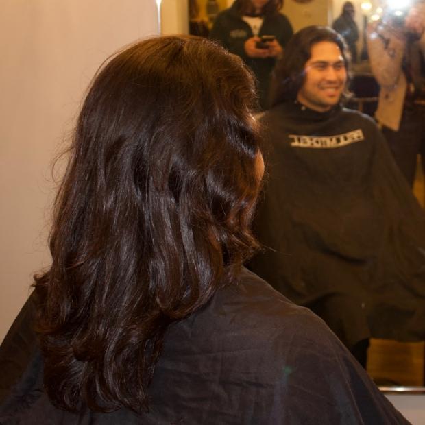 Nick Bondy's hair before