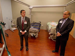 Dan Morissette and Greg Souza speaking at the official opening of the simulation room