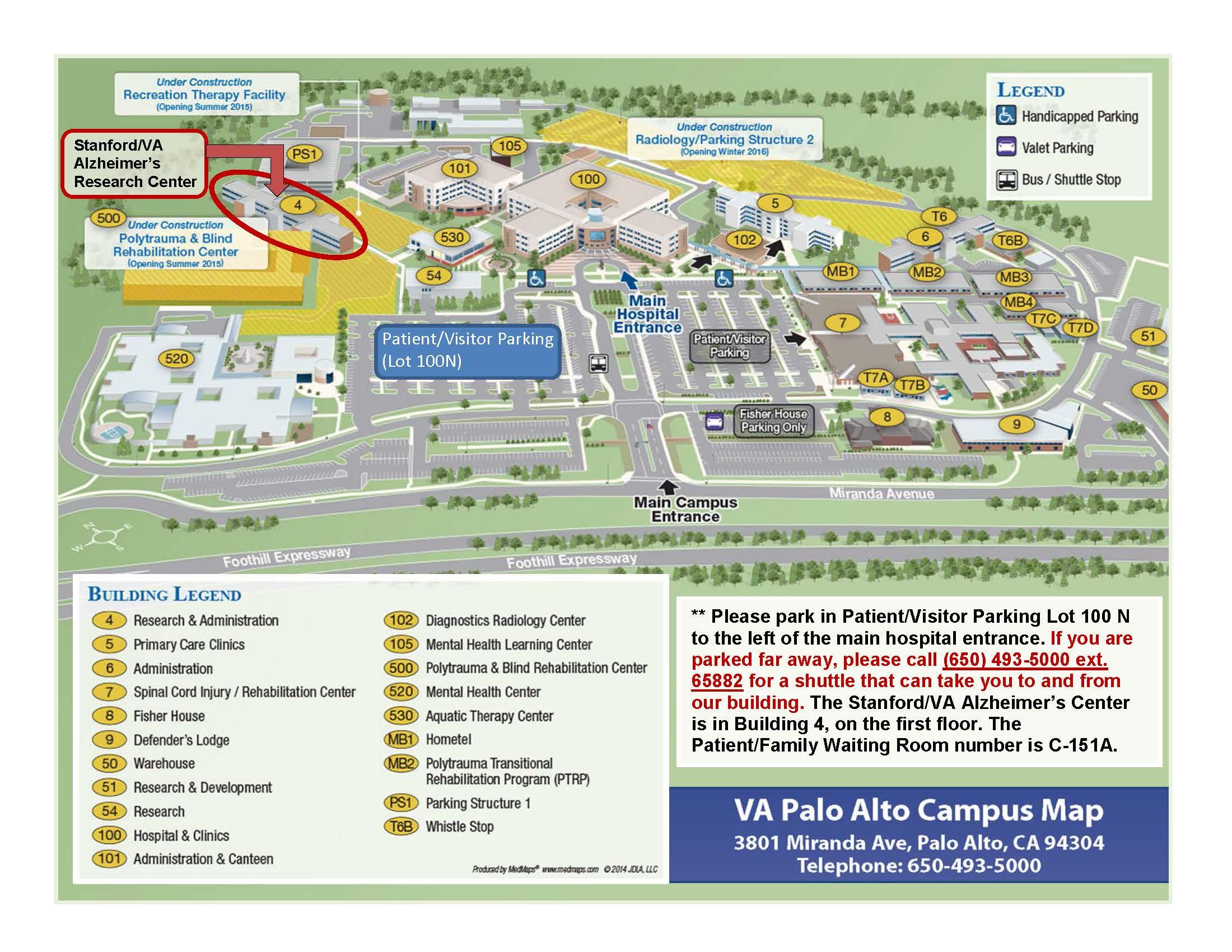 Stanford Hospital Map Map & Directions | Stanford/VA Alzheimer's Center | Stanford Medicine