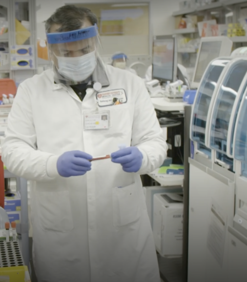 COVID-19 antibody testing lab