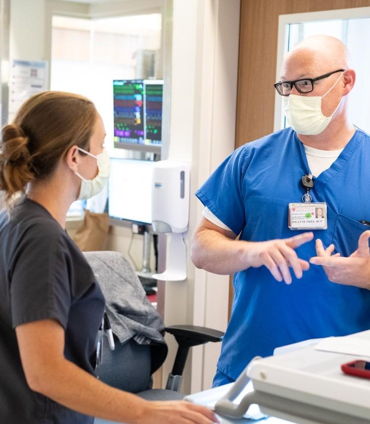 Dwayne Free with nurse Chiara Stetson