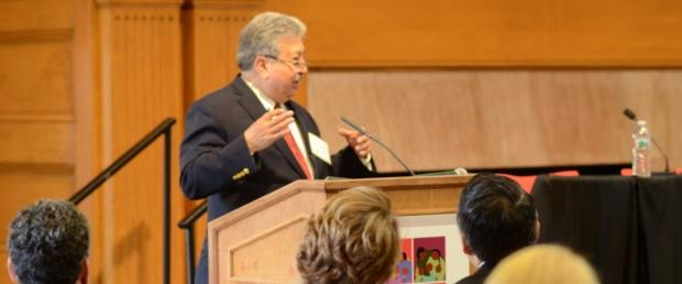 Dr. Fernando Mendoza speaking