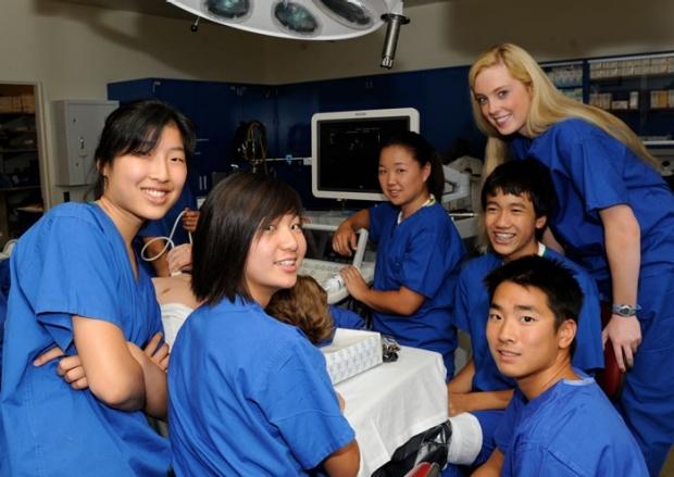 high school students in summer internship program