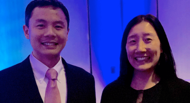 smiling headshots of Natalie Lui and Jeffrey Yang