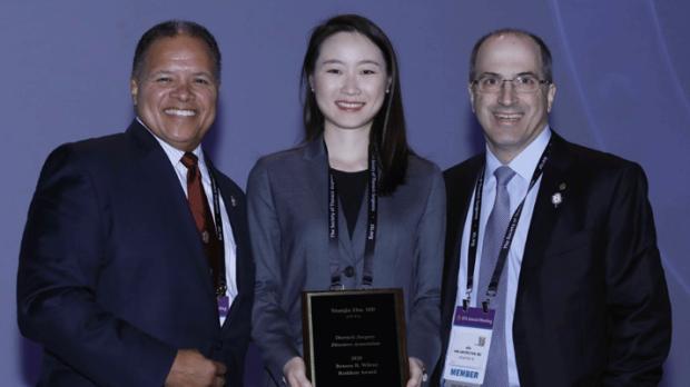 Yuanjia Zhu willing TSDA Benson R. Wilcox award