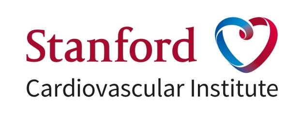 Stanford Cardiovascular Institute logo with red and blue heart