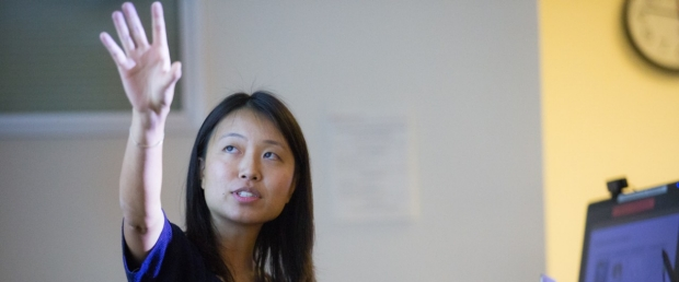 Faculty member Serena Yeung teaches several DBDS and BMI courses on artificial intelligence and healthcare, image courtesy of Saul Bromberger & Sandra Hoover Photography