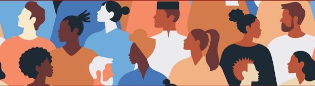 Diversity cartoon banner image