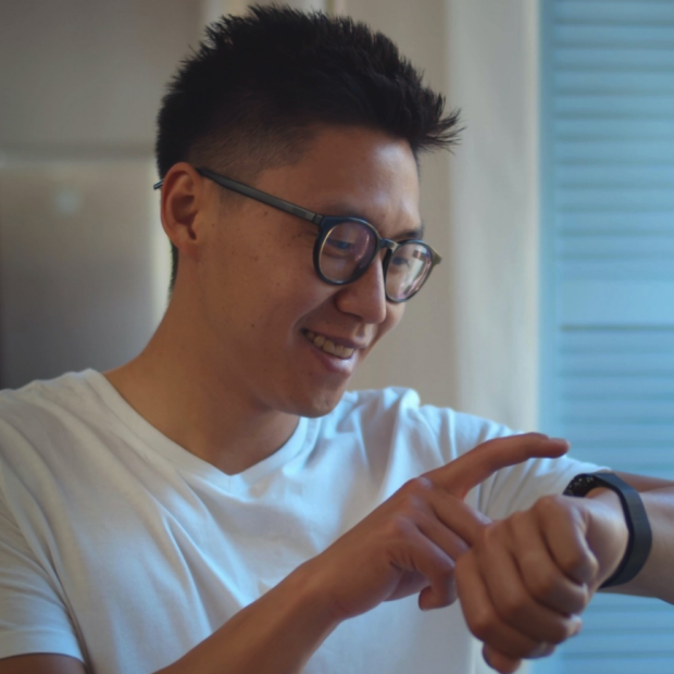"""Screenshot of image from StanfordMed News release with following caption, """"Michael Snyder and his team have shown that smartwatches can predict dehydration, anemia and illnesses such as the flu or a cold. nimito/Shutterstock.com"""""""