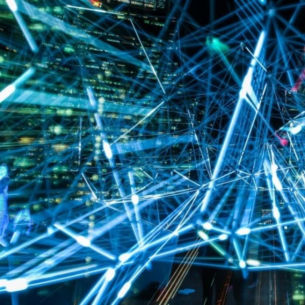 Electronic data light filaments