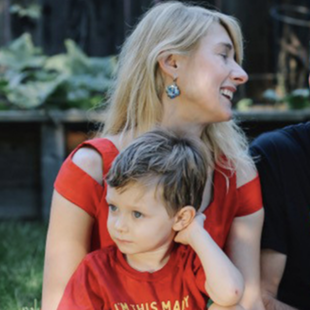 Image of Zina Good with son from Stanford Scope Blog post