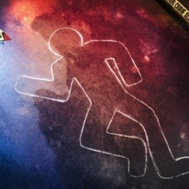 Shutterstock image of chalk figure at crime scene from Stanford Medicine News release