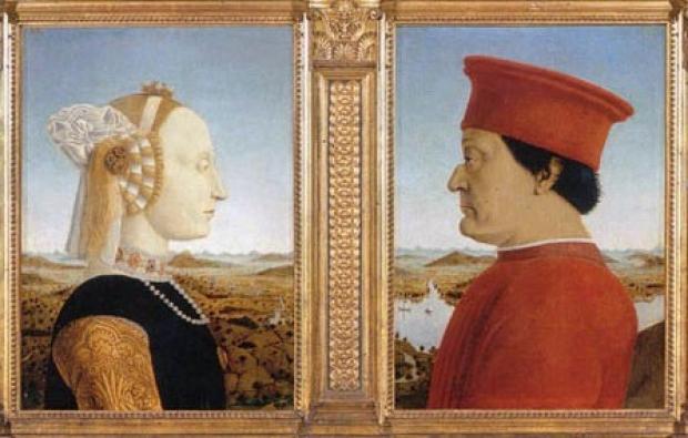 portraits of the Duke and Duchess of Urbino