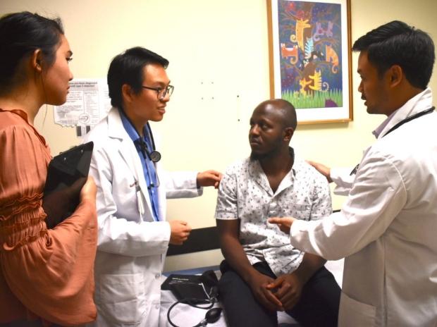 Students at Cardinal Free Clinic
