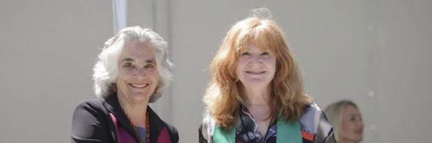 Provost Drell and Pam Bernstein