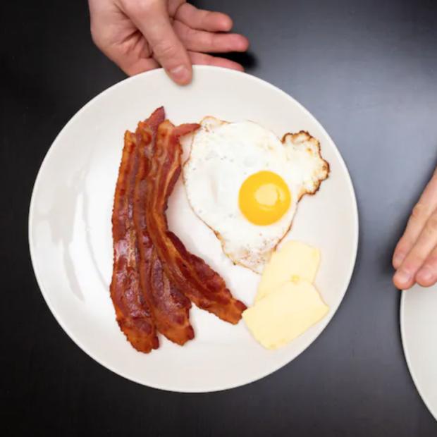 Screenshot of Washington post image with place of keto food plate