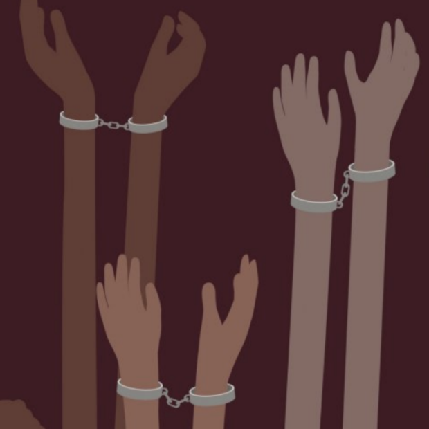 Illustration of hands in handcuffs from Getty Images