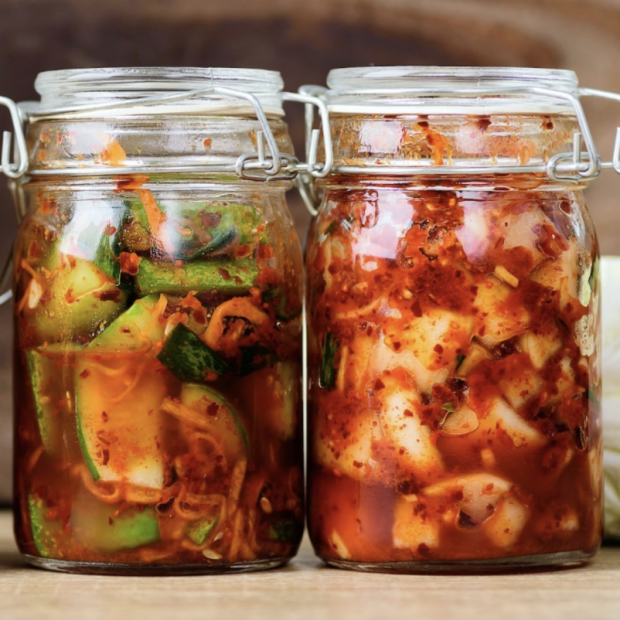 Stanford researchers found that eating a diet high in fermented foods such as kimchi increases the diversity of gut microbes, which is associated with improved health. Nungning20/Shutterstock.