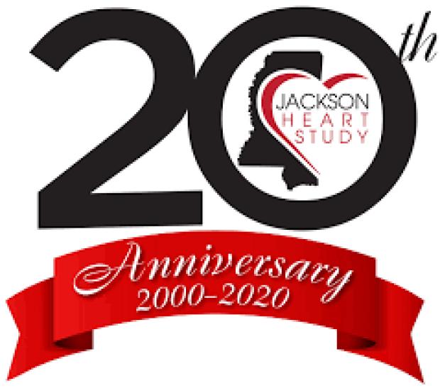 Jackson Heart Study 20th Anniversary logo